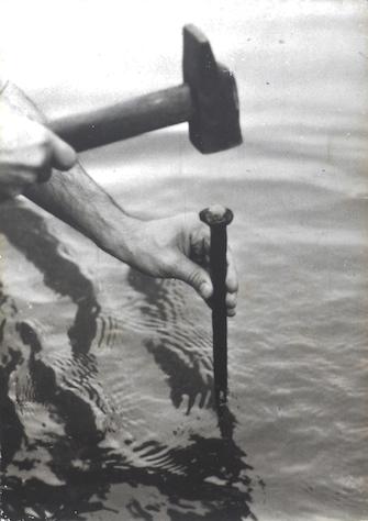 Fabrizio Plessi, Un Buco Nell' Acqua (A Hole in the Water), Action, 1973