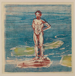 Edvard Munch, Bathing man, 1899
