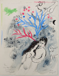 Marc Chagall, Daphnis und Chloé (first page), 1960/61